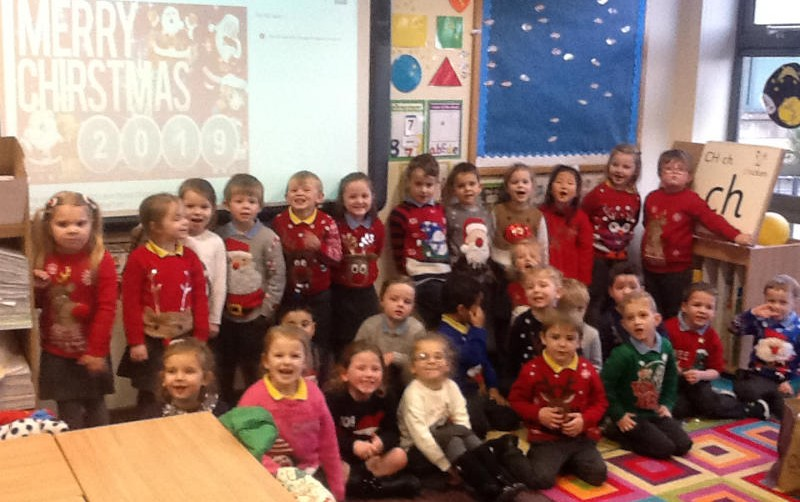 Handsome crew in their Christmas jumpers